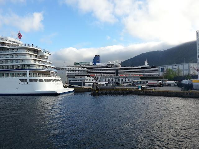Cruise ship Viking Sky in Bergen, Norway