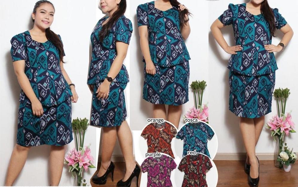 Kenakan Model Baju Batik Sederhana Agar Wanita Gemuk Terlihat Langsing