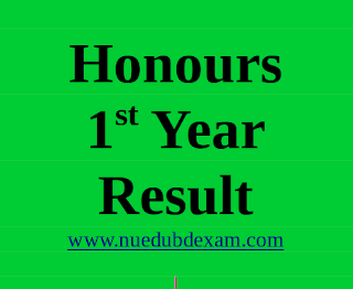 nu honours 1st year result cover