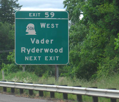 Same sign with Geo. Washington's head outline changed to Darth Vader's head outline