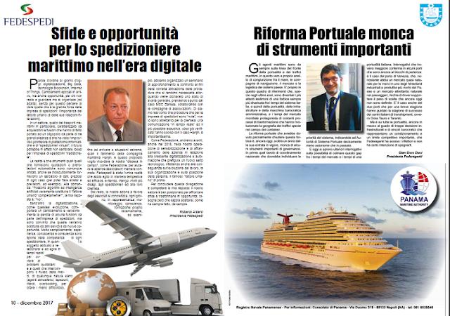 DIC 2017 PAG 10 - Sfide e opportunità  per lo spedizioniere  marittimo nell'era digitale (Roberto Alberti)