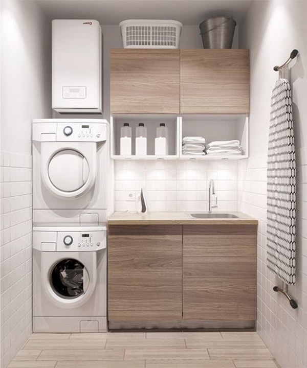 DIY Small Laundry Room Organization Ideas With Top Loading Washer 15