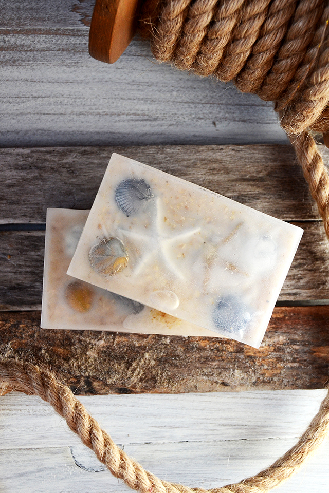 summer beach soap recipe and tutorial