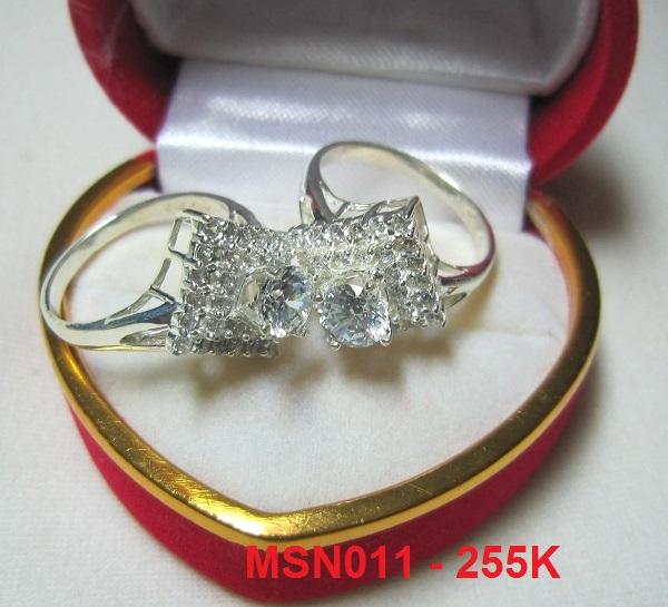 TrangSuc.top - Nhẫn đính đá trắng cao cấp MS-N011 - 255.000 VNĐ - Liên hệ mua hàng: 0906846366(Mr.Giang)