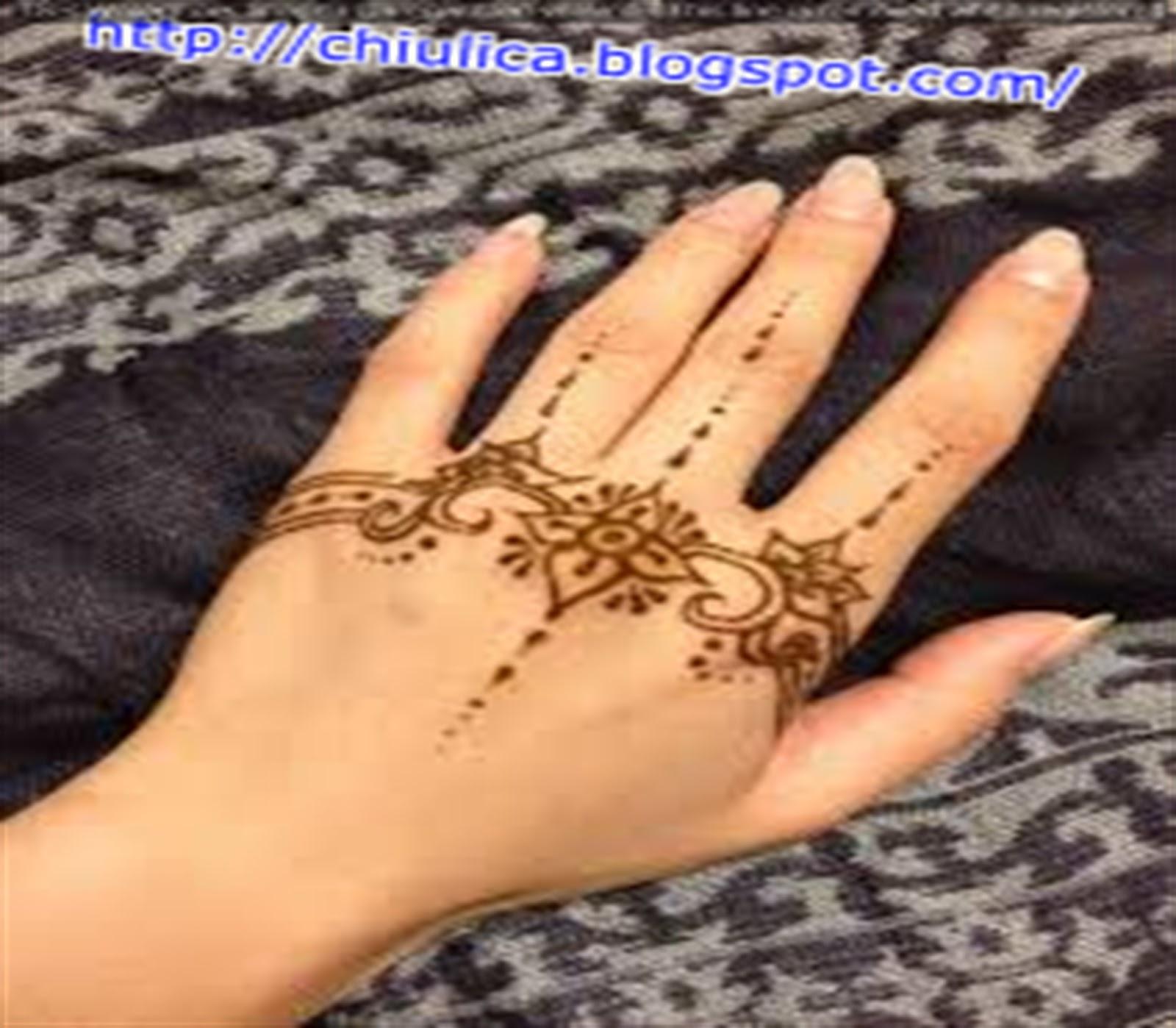 Inai Design Simple Dan Mudah Terbaru 2017 Contoh Henna Simple