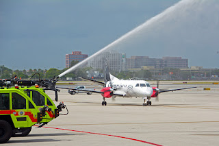 Silver Airways arrives at Miami International Airport MIA from Bimini