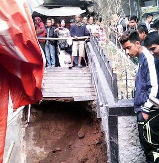 Staircase in Darjeeling town collapsed