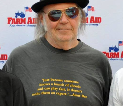Neil Young Aunt Bee Shirt Farm Aid 2017
