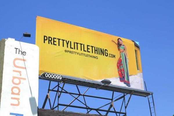 Pretty Little Thing SS18 billboard