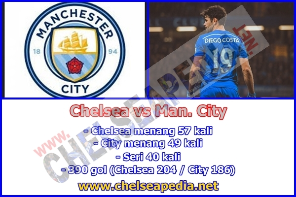 pertandingan Manchester City vs Chelsea Sabtu, 3 Desember