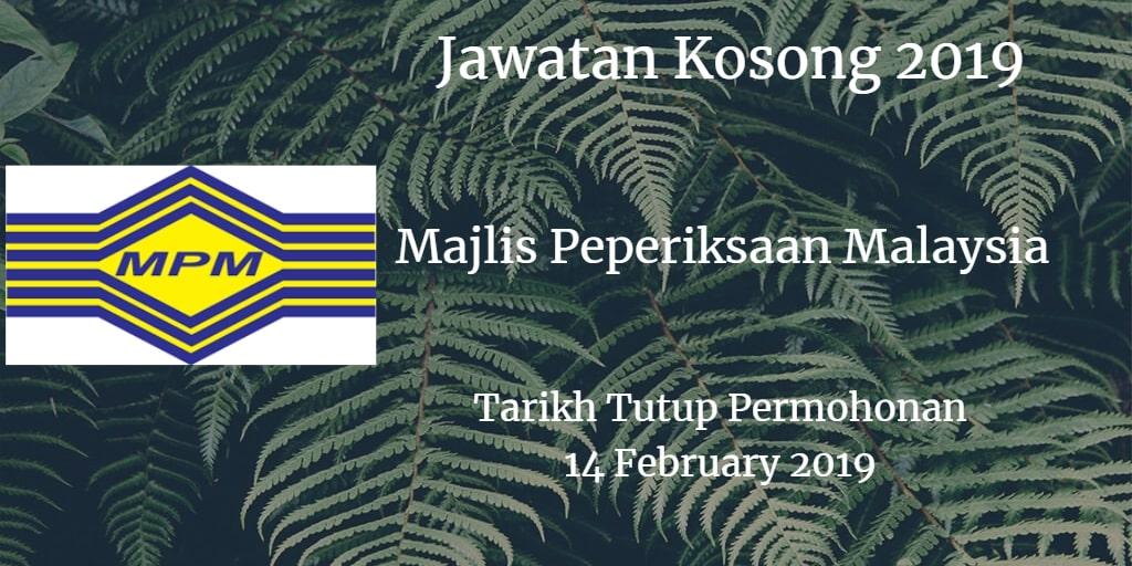 Jawatan Kosong MPM 14 February 2019