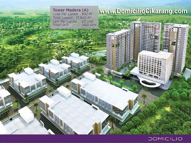 Domicilio CIkarang Apartment Tower Madera