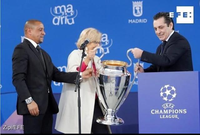 وصول كأس دوري أبطال أوروبا الى مدريد