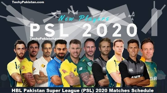 HBL Pakistan Super League (PSL) 2020 Matches Schedule - Teams & Players