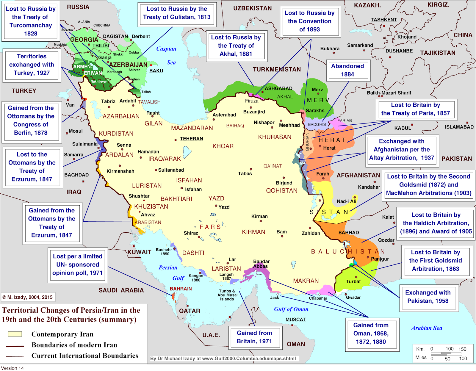 Iran territorial changes