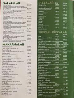 luce restaurante pizzeria balçova izmir menü fiyat
