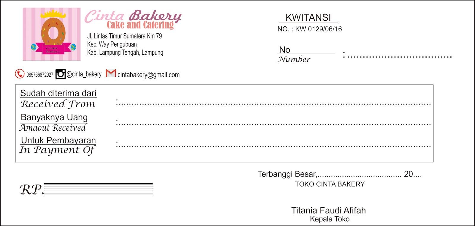 Pengertian Kwitansi Titania Faudi Afifah