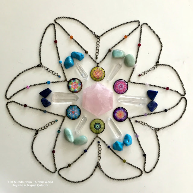 Mandala Necklaces with Crystals by Um Mundo Novo