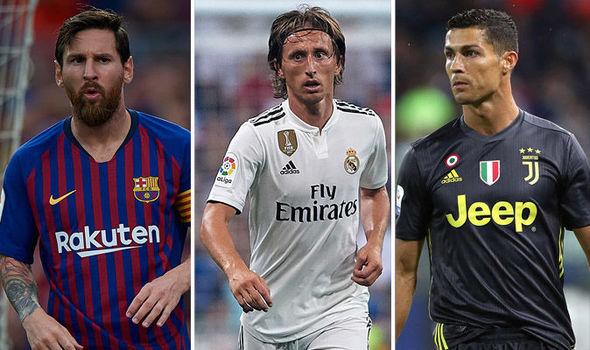 Lionel Messi, Luka Modric and Cristiano Ronaldo