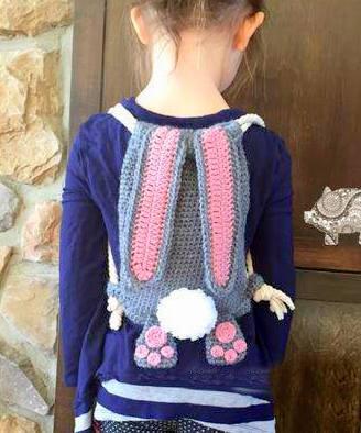 crochet pattern bunny backpack