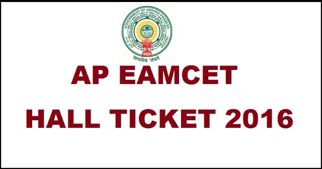 AP- EAMCET -2016- Hal-l Ticket