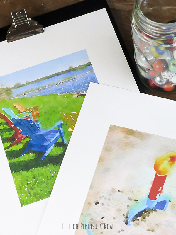 summer watercolor printables for decorating