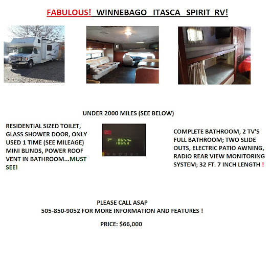 FABULOUS WINNEBAGO ITASCA SPIRIT RV PLEASE TAKE A MOMENT TO LOOK AT THE DETAILS!