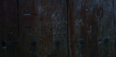 miel, Beceite, Beseit, arnes, madera, tablillas, marca puerta