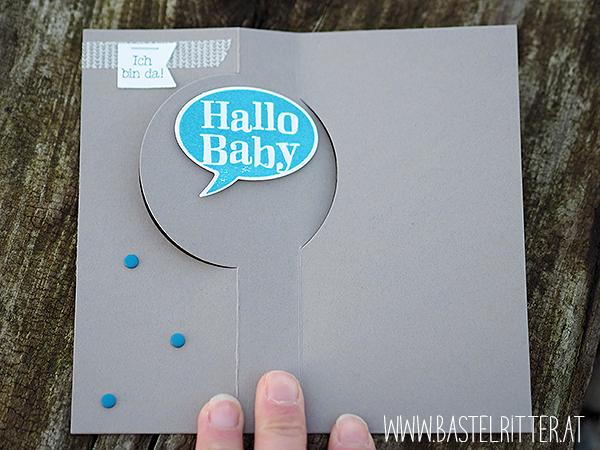 Zum Nachwuchs Stampin up Babykarte