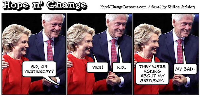 obama, obama jokes, political, humor, cartoon, conservative, hope n' change, hope and change, stilton jarlsberg, hillary, bill, clinton, birthday, 69, stevie wonder
