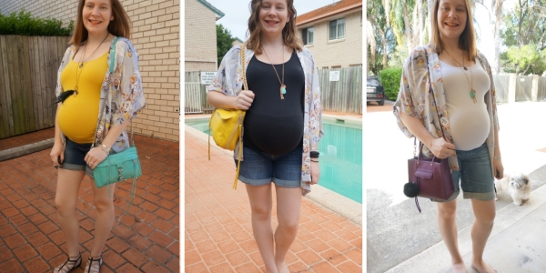 floral kimono 30 wears 3 ways in pregnancy maternity shorts | Away From Blue
