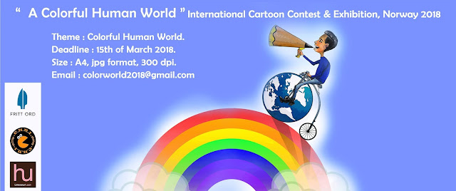 "A Colorful Human World"" International Cartoon Contest & Exhibition, Norway 2018"