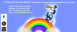 """""""A Colorful Human World"""" International Cartoon Contest & Exhibition, Norway 2018"""