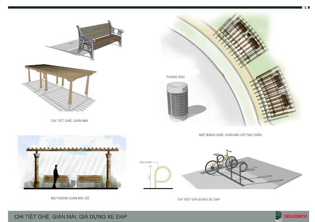 Thiết kế ghế, giàn mái, giá đựng xe đạp,.. The Green Daisy