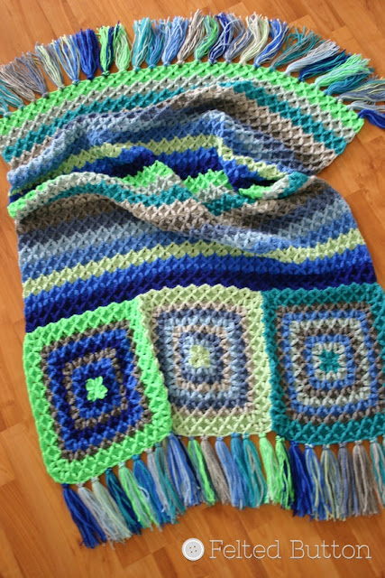 Parrotlet's Flight Blanket by Susan Carlson of Felted Button