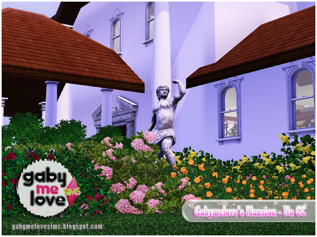 Gabymelove's Mansion |NO CC| ~ Lote Residencial, Sims 3. Jardín.