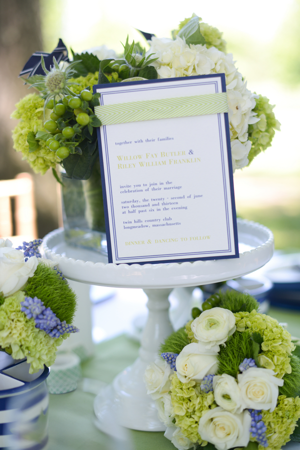white+blue+navy+green+lime+neon+wedding+yellow+dessert+table+reception+bride+groom+bouquet+cake+table+setting+favors+pie+lemonade+summer+outdoor+rustic+nautical+beach+ocean+sea+dani+fine+photography24 - Preppy Summer