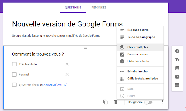 Google lance une nouvelle version simplifiée de Google Forms
