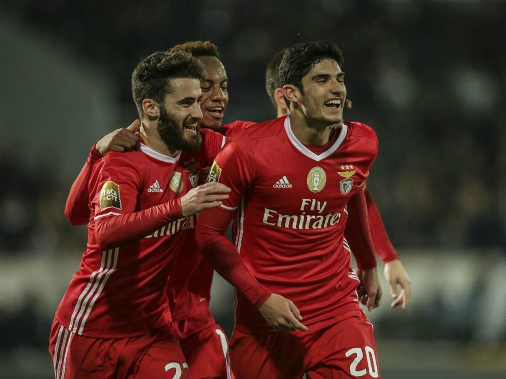 Gonçalo Guedes marcou os dois gols do Benfica nesta terça-feira (Foto: Divulgação/Benfica)