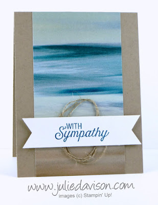 Stampin' Up! Scenic Sayings Clean & Simple Sympathy Card #stampinup www.juliedavison.com
