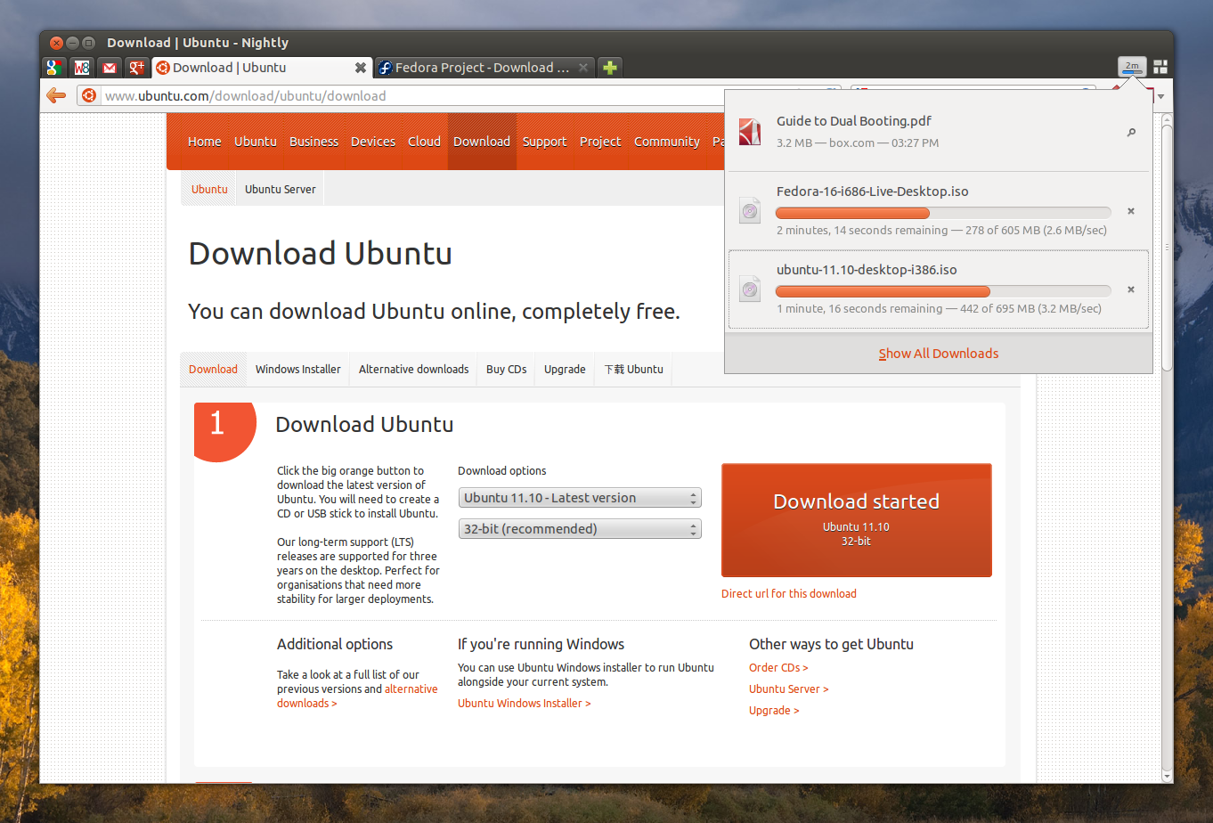 Firefox Nightly Gets New Built-In Download Panel, More ~ Web