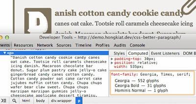 Jenis Font Family Dengan Google Chrome