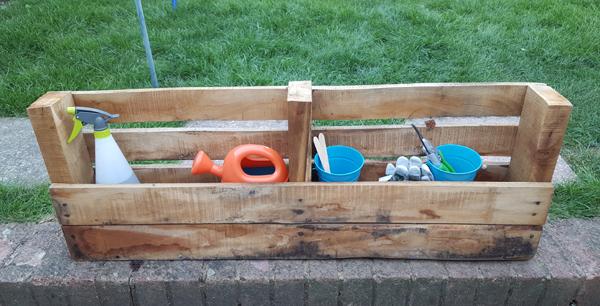 Gardening Storage unit made from pallets