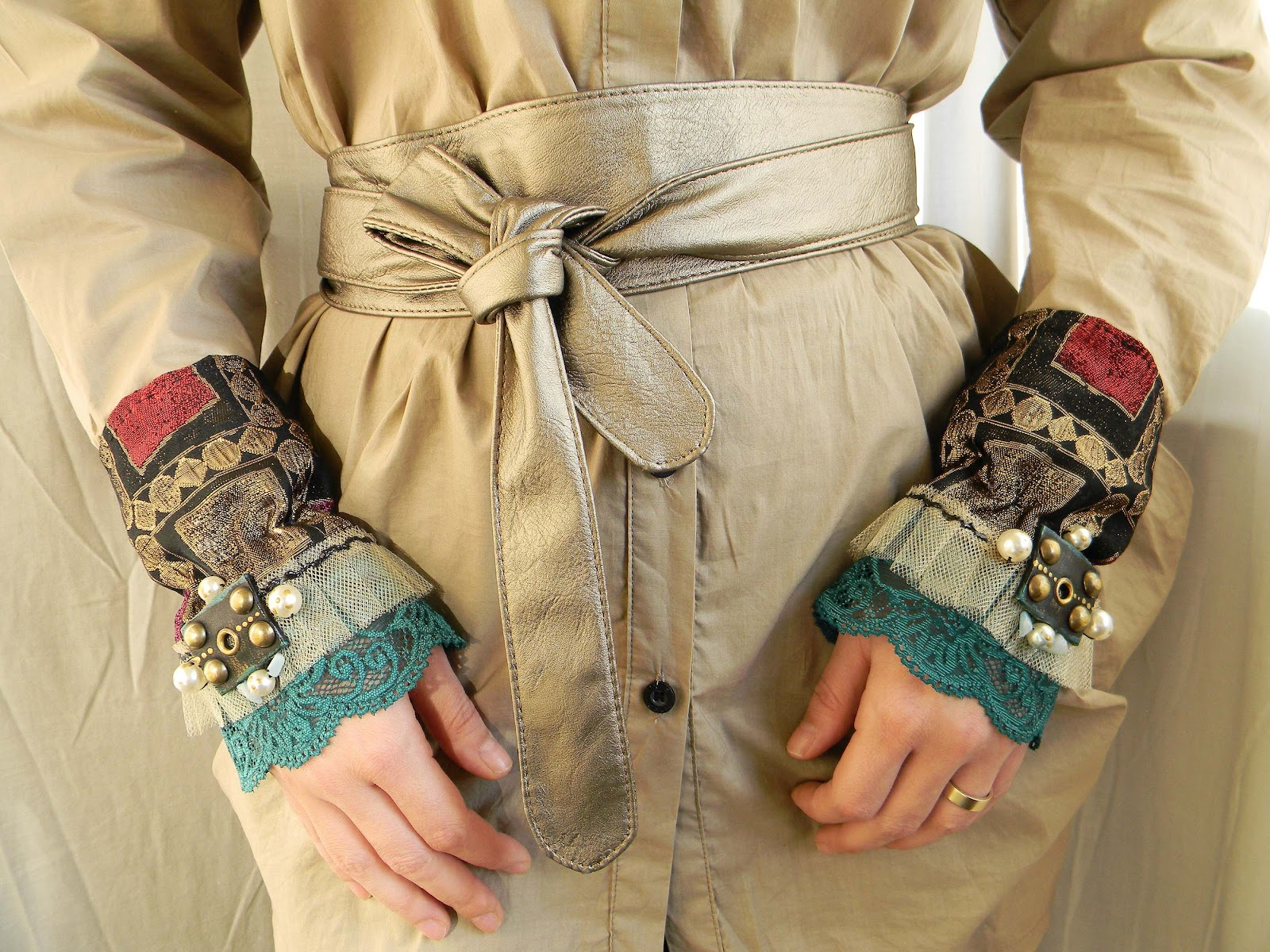 """Playing Renaissance"" Handmade Cuffs/Mittens"