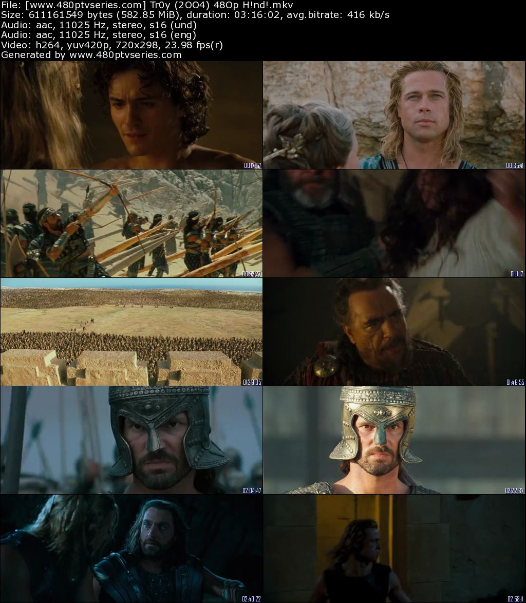Troy (2004) 550MB Full Hindi Dual Audio Movie Download 480p