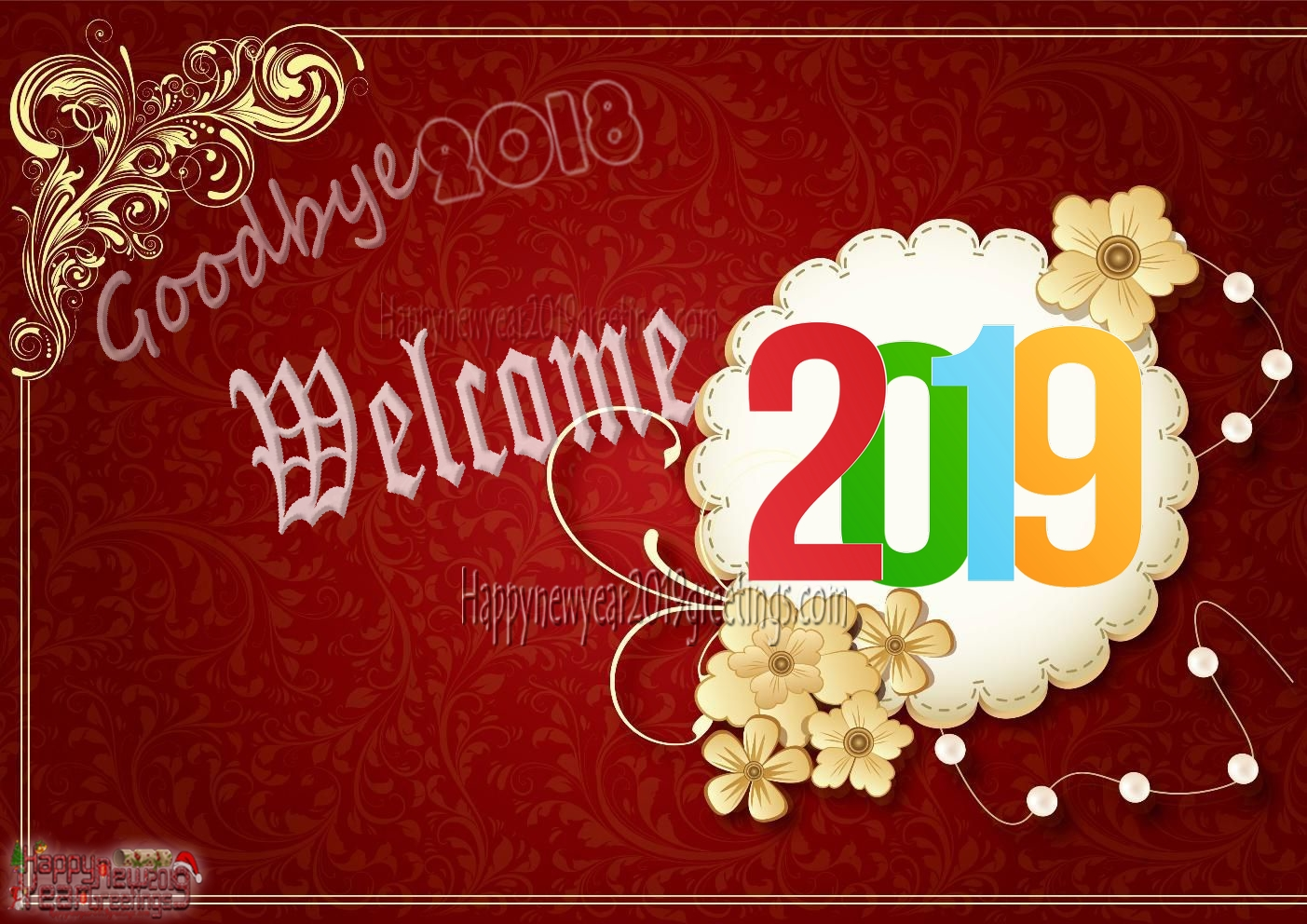 goodbye 2018 welcome new year 2019 images