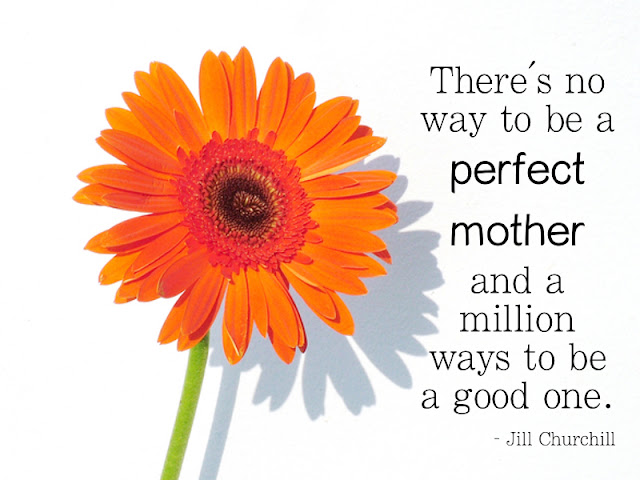 Venture & Roam: Mother's Day Quote, quotes about motherhood, quotes for moms, Jill Churchill quote, quote about being a perfect mother