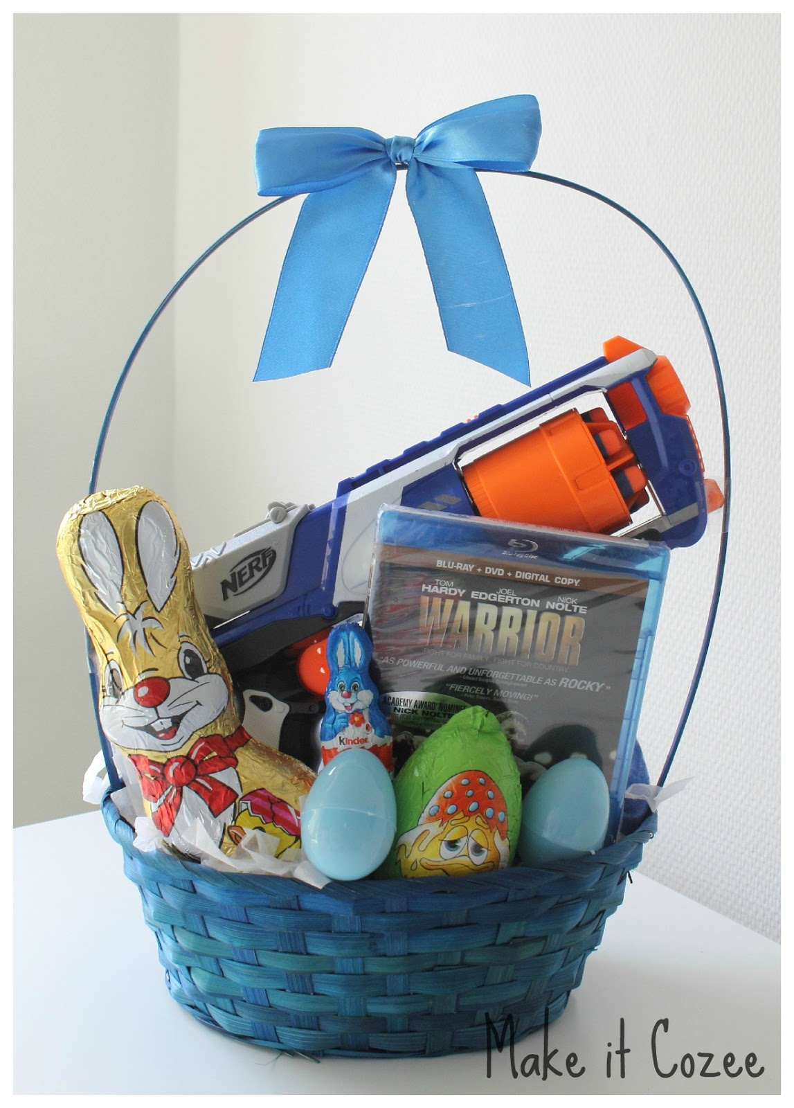 Make it cozee toddler easter basket this year i also made the hubby a basket i dont care how old you are nerf guns are just so much fun negle Choice Image