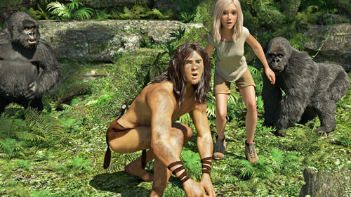 Cena Tarzan filme 3D, Jane, figurino