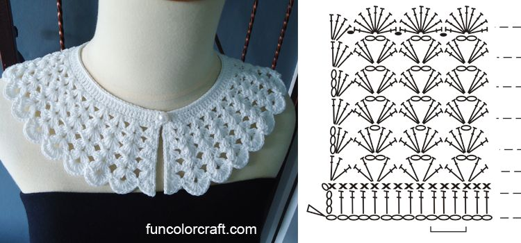 Simple Collar Crochet Pattern Funcolor Craft